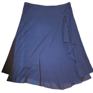 Wrapping black skirt asymmetrical with lining